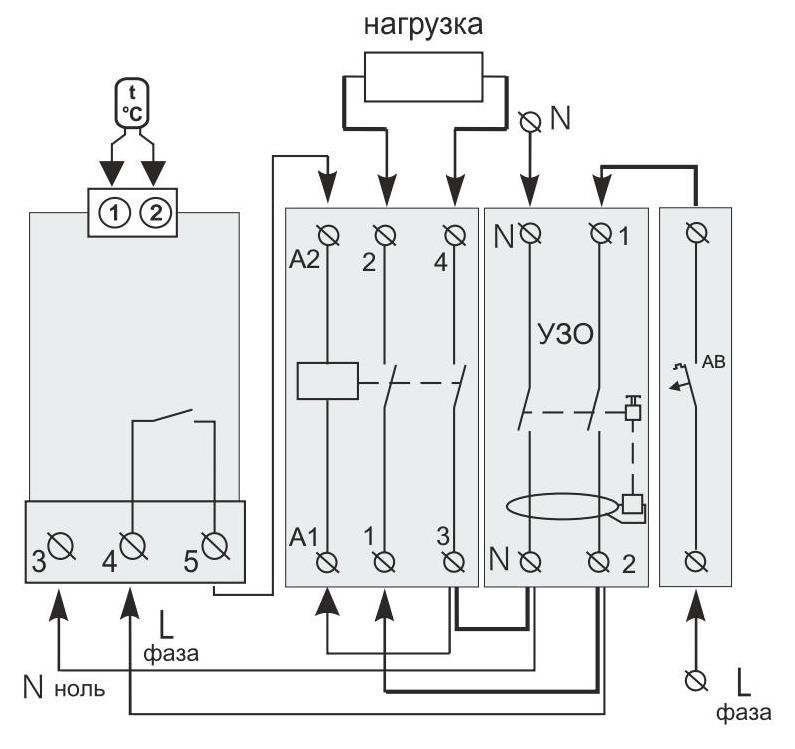 Der einfachste Temperaturregler für einen Elektrokessel ist das ...